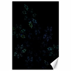 Fractal Pattern Black Background Canvas 12  x 18
