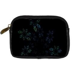 Fractal Pattern Black Background Digital Camera Cases