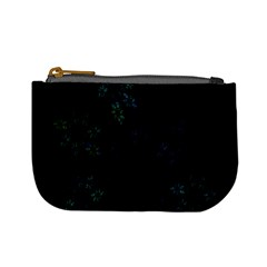 Fractal Pattern Black Background Mini Coin Purses