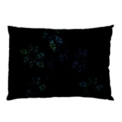 Fractal Pattern Black Background Pillow Case (Two Sides)