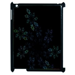 Fractal Pattern Black Background Apple iPad 2 Case (Black)