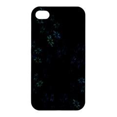 Fractal Pattern Black Background Apple iPhone 4/4S Hardshell Case