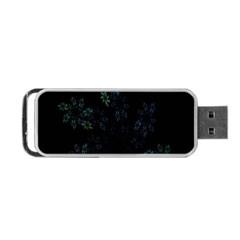 Fractal Pattern Black Background Portable Usb Flash (one Side)