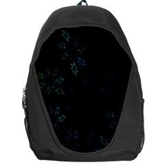 Fractal Pattern Black Background Backpack Bag