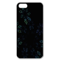 Fractal Pattern Black Background Apple Seamless iPhone 5 Case (Clear)