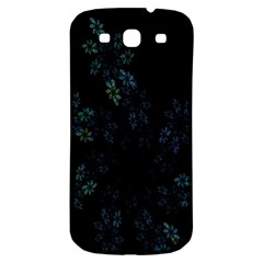 Fractal Pattern Black Background Samsung Galaxy S3 S Iii Classic Hardshell Back Case