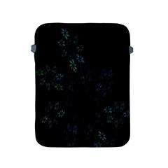 Fractal Pattern Black Background Apple iPad 2/3/4 Protective Soft Cases