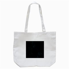 Fractal Pattern Black Background Tote Bag (White)
