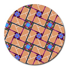 Overlaid Patterns Round Mousepads