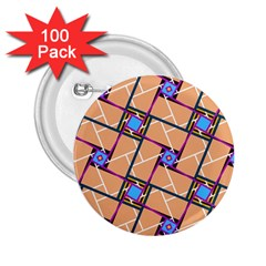 Overlaid Patterns 2 25  Buttons (100 Pack)