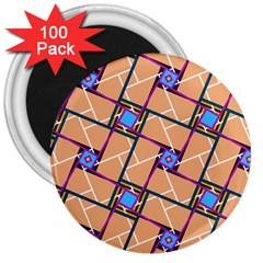 Overlaid Patterns 3  Magnets (100 Pack)