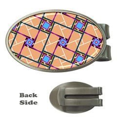 Overlaid Patterns Money Clips (oval)