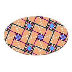 Overlaid Patterns Oval Magnet