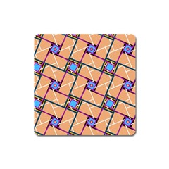 Overlaid Patterns Square Magnet