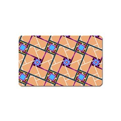 Overlaid Patterns Magnet (Name Card)