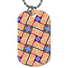 Overlaid Patterns Dog Tag (one Side)
