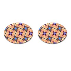 Overlaid Patterns Cufflinks (Oval)