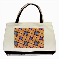 Overlaid Patterns Basic Tote Bag