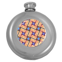 Overlaid Patterns Round Hip Flask (5 oz)