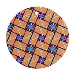 Overlaid Patterns Round Ornament (two Sides)