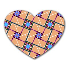 Overlaid Patterns Heart Mousepads