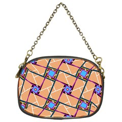 Overlaid Patterns Chain Purses (one Side)