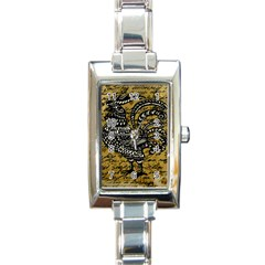 Vintage rooster  Rectangle Italian Charm Watch