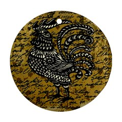 Vintage rooster  Ornament (Round)