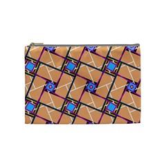Overlaid Patterns Cosmetic Bag (Medium)