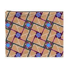 Overlaid Patterns Cosmetic Bag (XL)