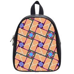 Overlaid Patterns School Bags (small)