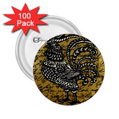 Vintage rooster  2.25  Buttons (100 pack)