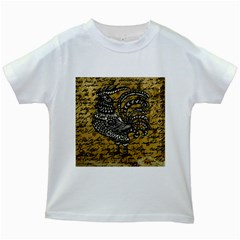 Vintage rooster  Kids White T-Shirts
