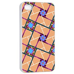 Overlaid Patterns Apple iPhone 4/4s Seamless Case (White)