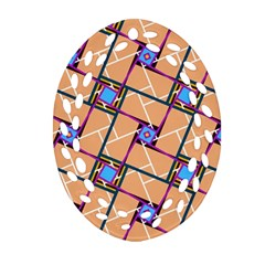 Overlaid Patterns Oval Filigree Ornament (Two Sides)