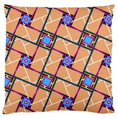 Overlaid Patterns Large Cushion Case (One Side)