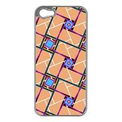 Overlaid Patterns Apple iPhone 5 Case (Silver)