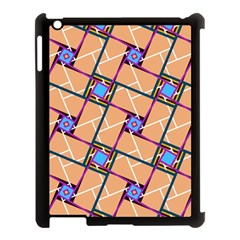 Overlaid Patterns Apple iPad 3/4 Case (Black)