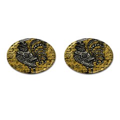 Vintage rooster  Cufflinks (Oval)