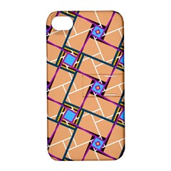Overlaid Patterns Apple iPhone 4/4S Hardshell Case with Stand