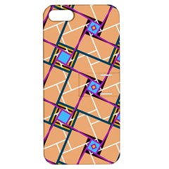 Overlaid Patterns Apple iPhone 5 Hardshell Case with Stand