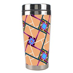 Overlaid Patterns Stainless Steel Travel Tumblers