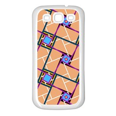Overlaid Patterns Samsung Galaxy S3 Back Case (White)