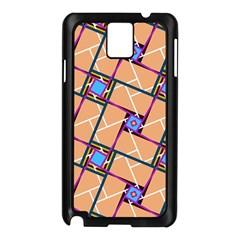 Overlaid Patterns Samsung Galaxy Note 3 N9005 Case (black)