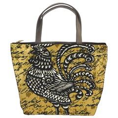 Vintage rooster  Bucket Bags