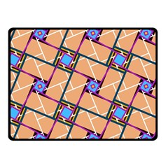 Overlaid Patterns Double Sided Fleece Blanket (Small)