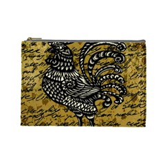 Vintage rooster  Cosmetic Bag (Large)