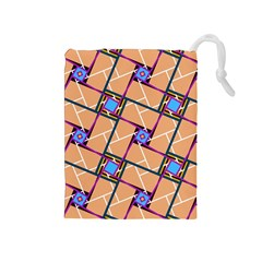 Overlaid Patterns Drawstring Pouches (Medium)