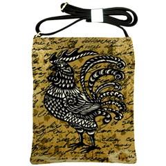 Vintage rooster  Shoulder Sling Bags