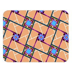 Overlaid Patterns Double Sided Flano Blanket (large)